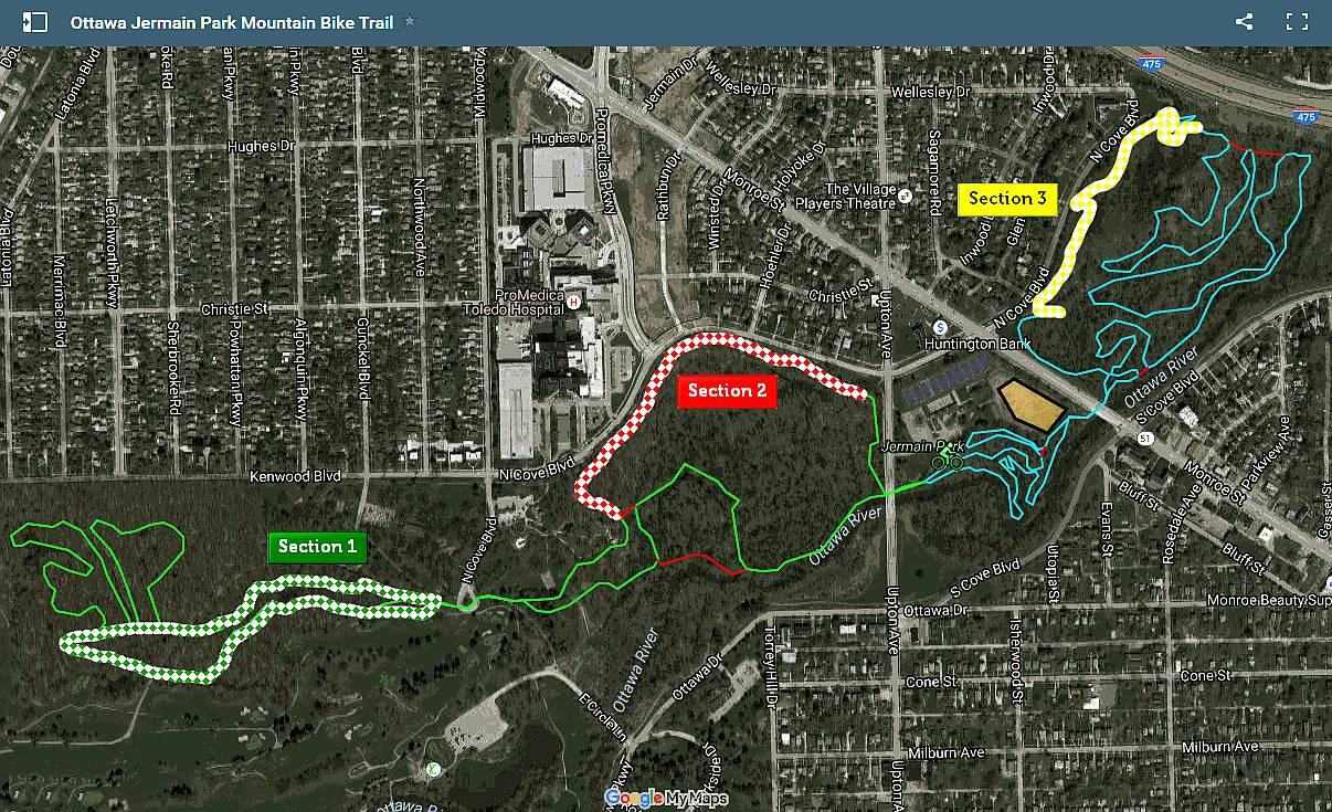 Bike Trails In Ohio Map.Mountain Bike Jermain Park